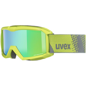 UVEX Flizz FM Lunettes de protection Enfant, lime/mirror green